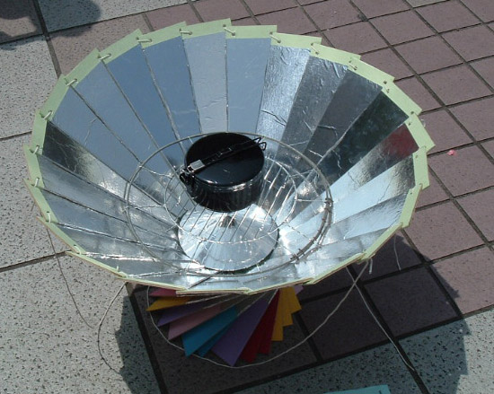 solar powered oven designs. of this cooker is made