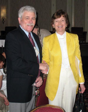 Patrick Widner (left) and Mary Robinson