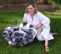 SHE co-founder Louise Meyer and the HotPot™ (shown with the Morning Star reflector option)