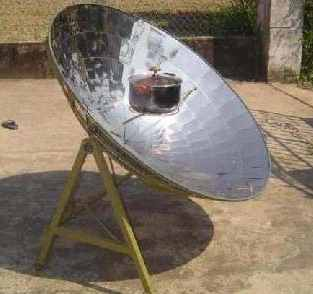 Solar Serve's parabolic solar cooker is being deployed in the village of Hoa Quy