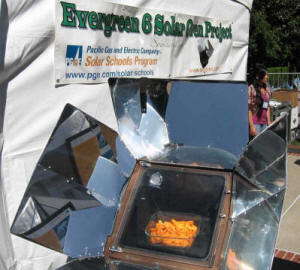 Elementary school students made solar-baked sweet potato fries at the California Agriculture Day celebration