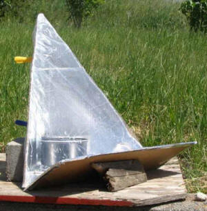 The EZ-3, shown with additional front reflector, is completely enclosed in a transparent, heat-resistant bag