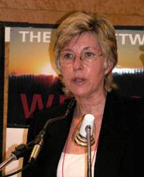 Patricia McArdle at the 2006 international solar cookers conference