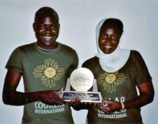 Gilhoube Patallet and Marie-Rose Neloum were awarded the 2007 Prize for Humanity for their work in Iridimi