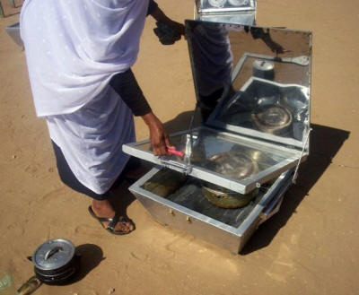 Solar box cookers were developed for the pilot phase of the project
