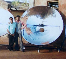 A new 2.3-meter parabolic solar cooker ready for operation