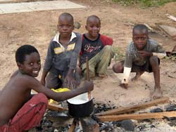 """Zambian orphans need solar,"" says Alison Curtis of SHEP's efforts to help young orphans who cook their own meals over dangerous cooking fires (Photo: SHEP)"
